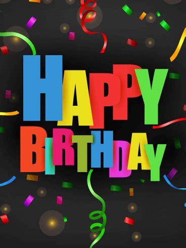 colorful confetti happy birthday card birthday