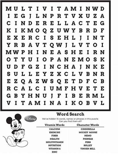 Puzzles Word Disney Printable Puzzle Mickey Activity
