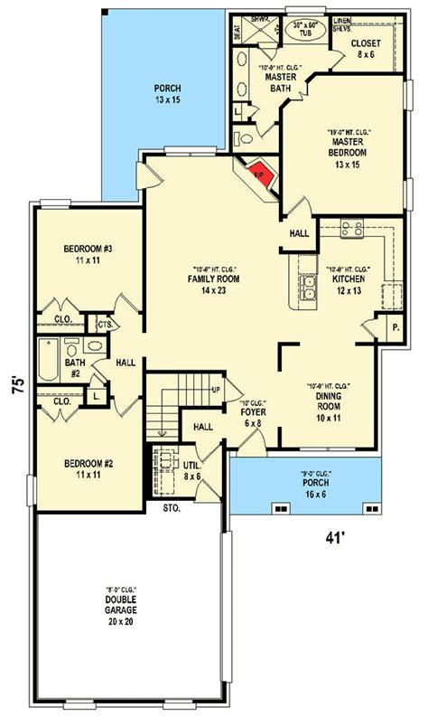 bed country house plan  bonus room  garage sv architectural designs house