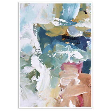 modern blue abstract art print    wall decor