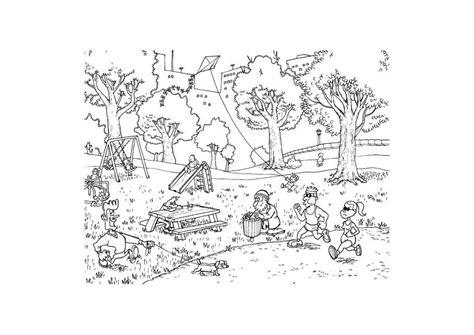 disegni di parco giochi disegno da colorare parco cat 9612
