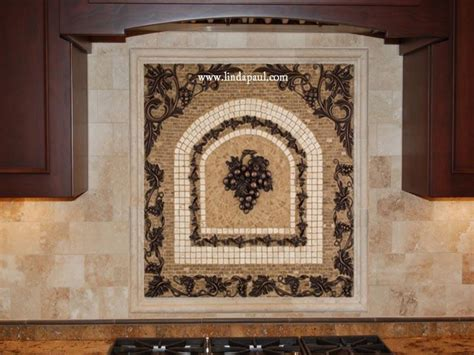kitchen backsplash mosaic tile grapes mosaic tile medallion kitchen backsplash mural