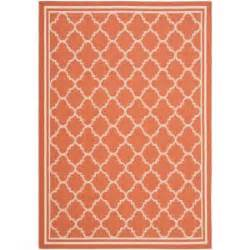 4163 patterned bath rugs safavieh courtyard terracotta bone 6 ft 7 in x 9 ft 6