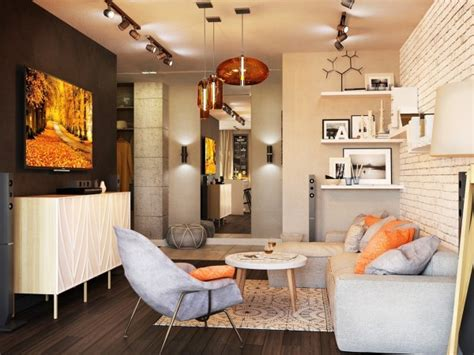 chic studio apartments  artsy accents