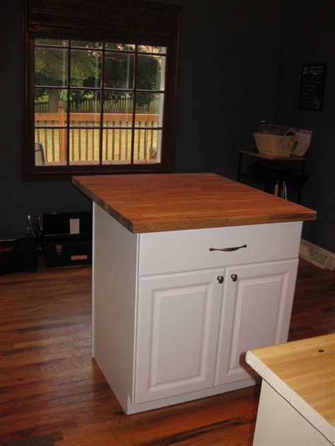 how to make a kitchen island with cabinets diy kitchen island tutorial from pre made cabinets