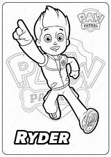 Coloring Pages Paw Patrol Ryder Printable Bigfoot Yeti sketch template