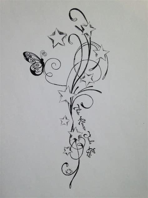 dessin tatouage papillon etoile cochese tattoo