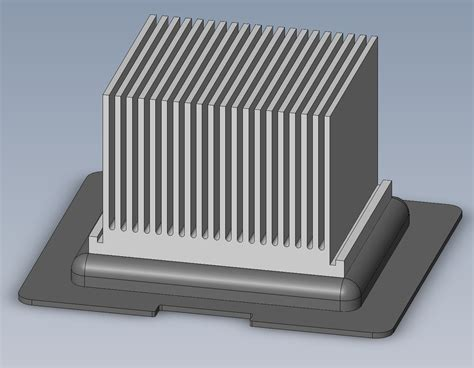 heat sink design evaluating the usefulness of a heat sink using solidworks