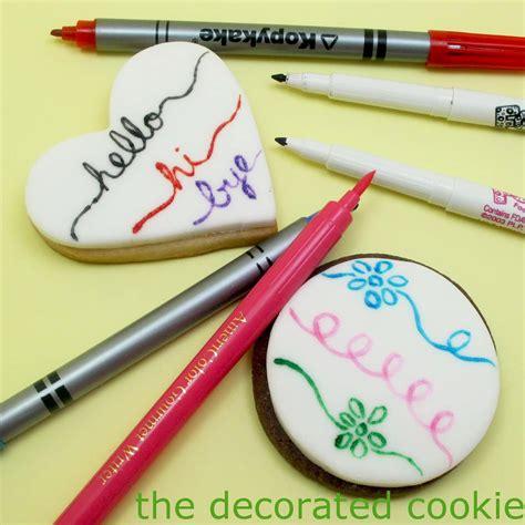 food writers tutorial  decorated cookie