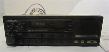 cassette car radio sony xr 4147 car stereo radio cassette ebay