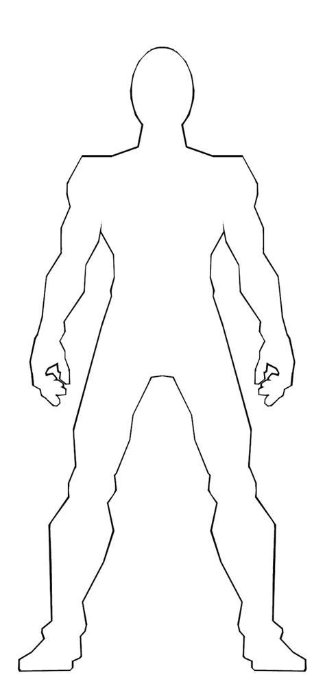 male body outline template galeri desain rumah