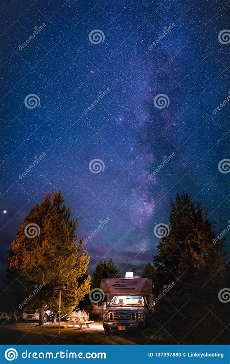 Milky Way Abstract Spiral Galaxy Side View Stock