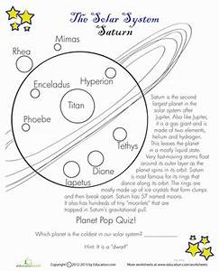 Saturn Facts | Worksheet | Education.com
