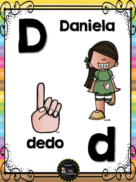 abecedario nombres propios 5 imagenes educativas