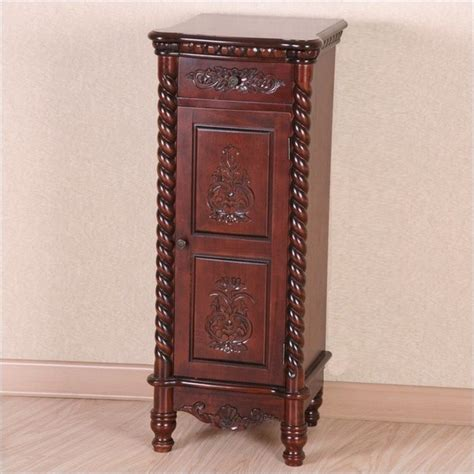 how tall are end tables international caravan windsor 1 drawer tall accent table
