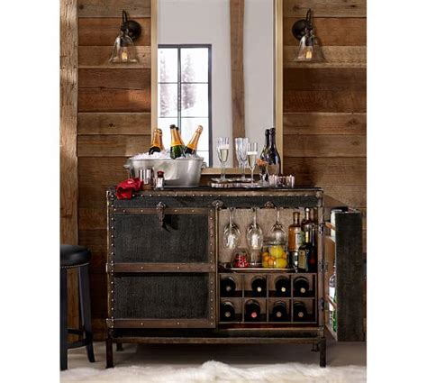 pottery barn wine cabinet ludlow trunk bar cabinet pottery barn