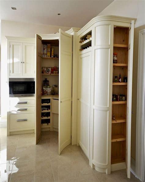 Bespoke Painted Kitchen Corner Larder In A Cream From