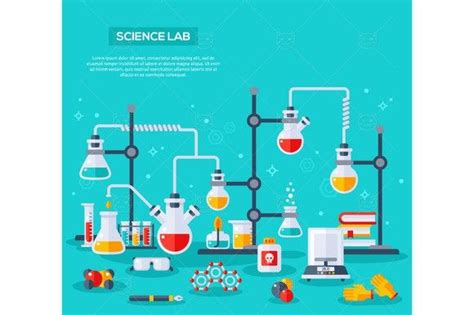 medical infographic science lab graphic design