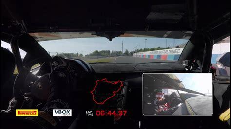 el lamborghini aventador svj recorre nuerburgring en