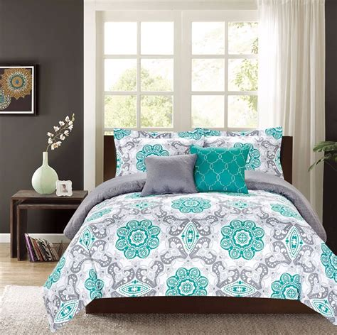 Teal Bedding by King Or Comforter 5 Pc Oversized Bedding Set Teal