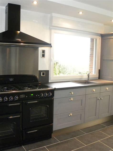 cuisiniste bethune cuisine moderne laquée gris patine gris foncé gilles martel
