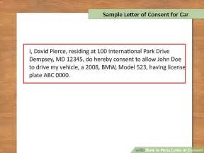Give An Exle Of How To Write A Resume by How To Write Letter Of Consent With Downloadable Sle
