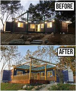 L-shaped, Container, House, With, Amazing, Veranda