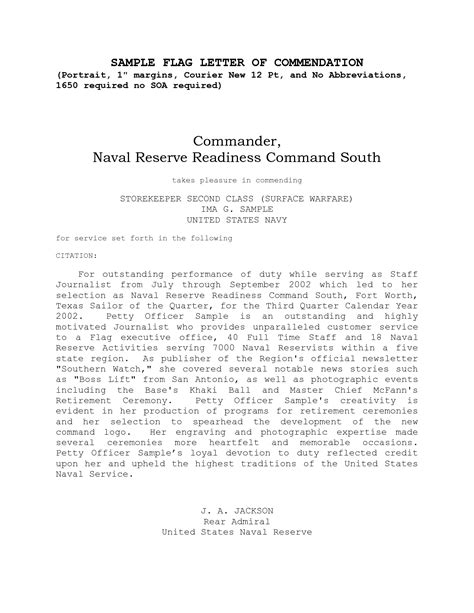 letter of commendation letter of commendation how to format cover letter
