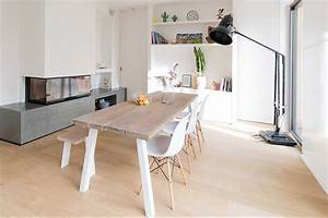 Table En Chene Moderne : table en planches de ch ne copenhague sur mesure for me lab ~ Melissatoandfro.com Idées de Décoration