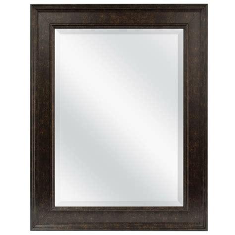 beveled rectangular bathroom vanity mirror  bronze