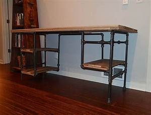 iron pipe desk - Google Search The Office Pinterest