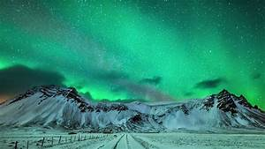 Epic Aurora Borealis Over Greenland And Iceland