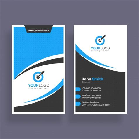 abstract business card design vertical business card