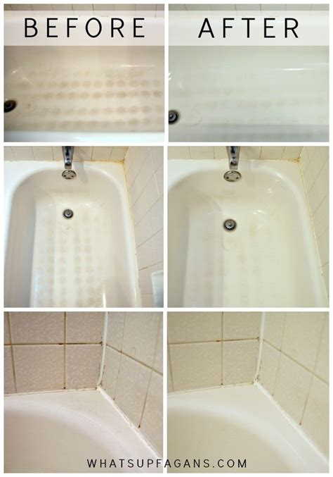 cleaning tub with my secret for a sparkling clean bathtub