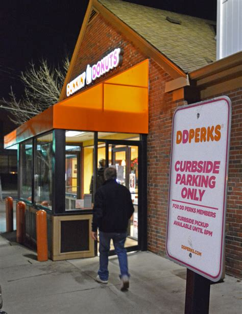 dunkin donuts begins test   curbside pickup boston