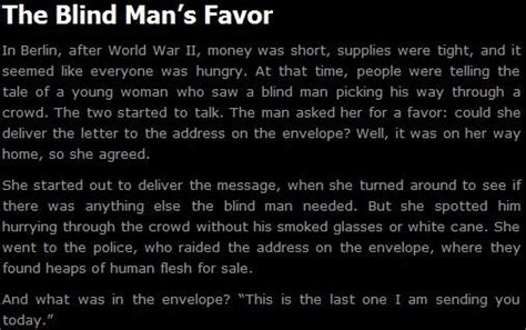 The Blind Man's Favor [x-post From R/creepypasta]