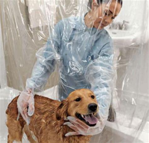 pet shower curtain  bubble boy arms