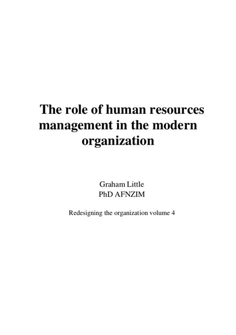 the modern pdf the of human resources in the modern organisation wheelers pdf