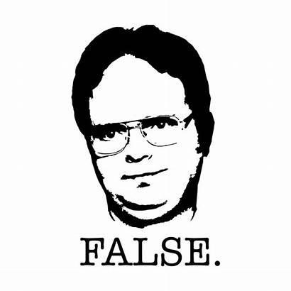 Dwight Schrute False Office Tv Shirt Starkle