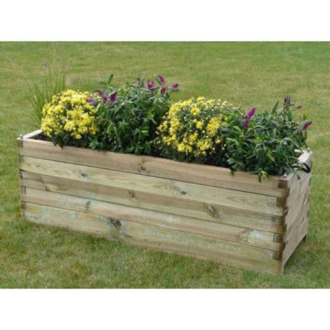 bacs a fleurs en bois bac 224 fleurs en bois robust rectangulaire 150 achat vente jardini 232 re pot fleur bac 224