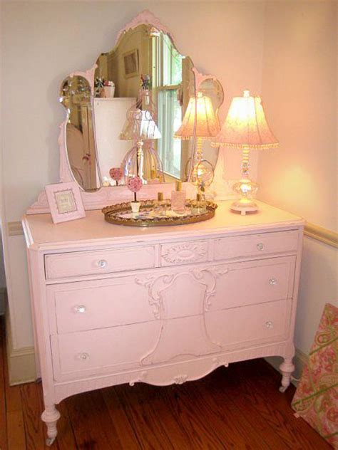 pink shabby chic dresser pink shabby chic dresser with tiara mirror decorate your home 2 pinterest furniture