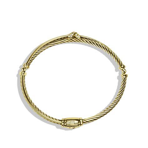 lyst david yurman  crossover bracelet  diamonds