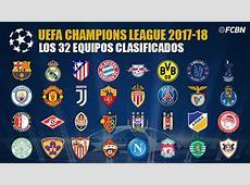 Estos son los 32 equipos de la Champions League 201718