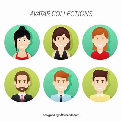 Professionnels Avatars Sammlung Avataren Professionellen Freepik Vektoren