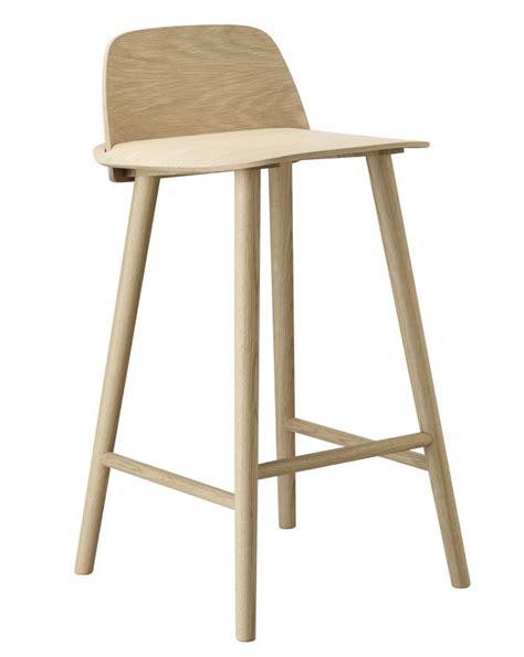 chaise bar hauteur assise 65 cm muuto tabouret nerf white tabouret design kidslovedesign com