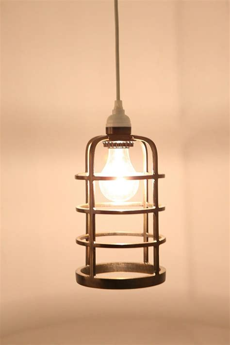industrial metal cage pendant shade decorating