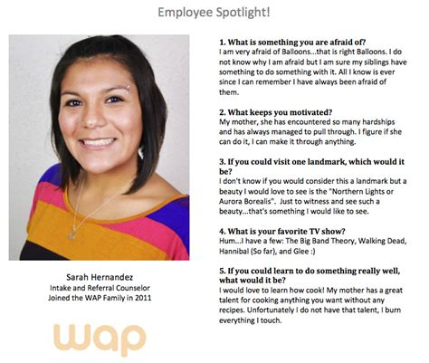 employee spotlight template employee spotlight questionnaire template templates resume exles xvam0rdglx