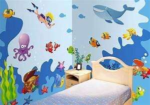 Wandtattoo Unterwasserwelt Kinderzimmer : riesige wandaufkleber wandsticker set xxl wandtattoo unterwasserwelt fische ebay ~ Sanjose-hotels-ca.com Haus und Dekorationen