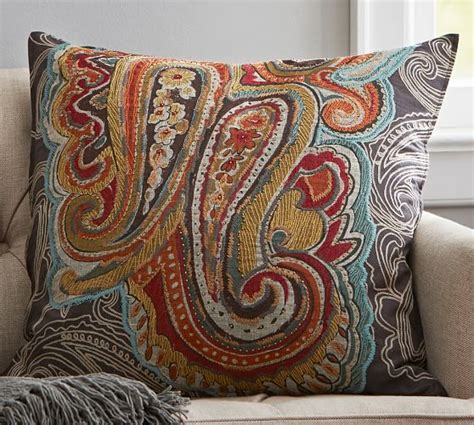pottery barn houston houston paisley pillow cover pottery barn