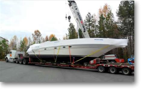Boat Transport Wrap by Shrink Wrapping Contact Boat And Yacht Transport